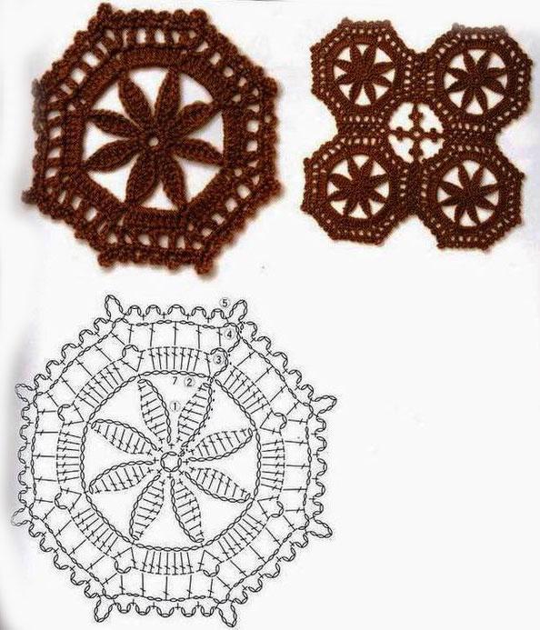 octagon-crochet-cirlce-flower-1