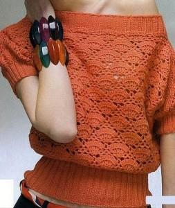 off the shoulder crochet weater