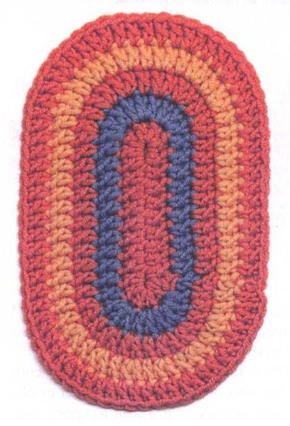 Crochet Oval Motif ⋆ Crochet Kingdom