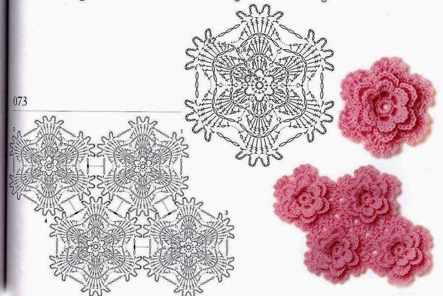 Pink Layered Crochet Flower Crochet Kingdom