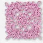 Pink Lace Free Crochet Square Pattern