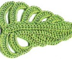 Pretty Crochet Leaf Diagram