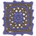 Pretty Lace Square Crochet Motif