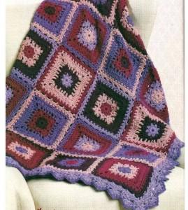 pretty square blanket motif rochet