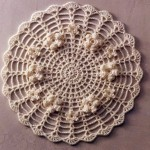 Lace Round Motif with Embellishments