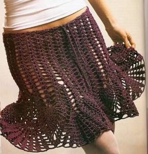 simple mesh crochet skirt