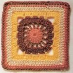 Circle Square Crochet Square