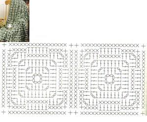 square crochet afghan 1