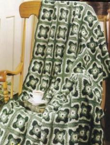 square crochet afghan
