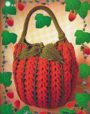 crochet bag patterns with diagrams strawberry crochet bag crochet kingdom doll crochet diagrams #8