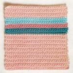 Striped Rows Crochet Square
