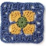 Sunflower Crochet Square