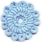 Textured Crochet Circle Pattern