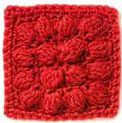 Treble Bobble Crochet Square