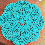 Turquoise Doily Pattern