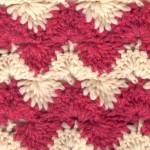 Zig Zag Two Toned Crochet Stitch