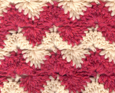 Zig Zag Two Toned Crochet Stitch