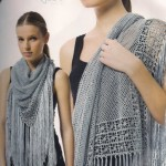 Light Grey Crochet Shawl Pattern
