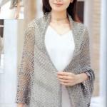 Light Grey Mesh Crochet Shawl Pattern
