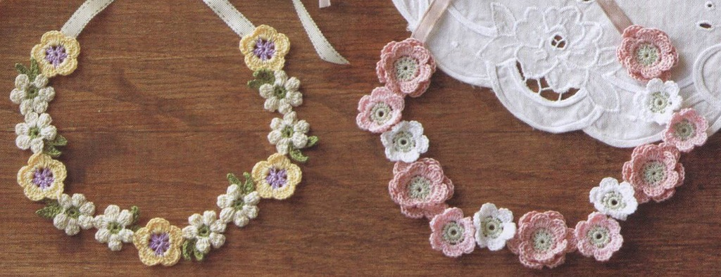 blooms and beads crochet necklace pattern crochet kingdom