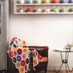 Colorful Honeycomb Afghan Crochet Pattern