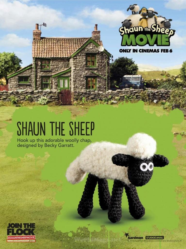 Shaun the Sheep Crochet Toy Pattern