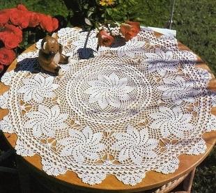 Pretty Round Tablecloth Pattern