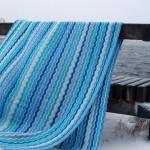 Blue Waves Crochet Blanket