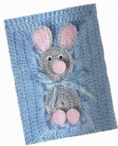 bunny crochet baby blanket pattern 1
