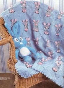 bunny crochet baby blanket pattern