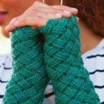 Basketweave Mitts