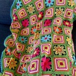 Flowers and Squares Afghan