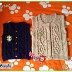 Cabled Crochet Child's Vest Pattern