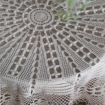 Crochet Tablecloth for Round Table