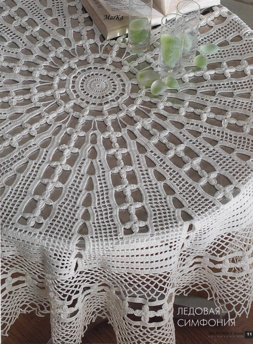 Crohcet Table Cloth For Round Table ⋆ Crochet Kingdom