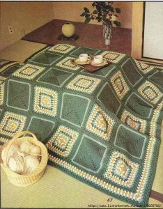 granny and crochet squares blanket