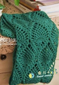 pineapple stitch scarf pattern