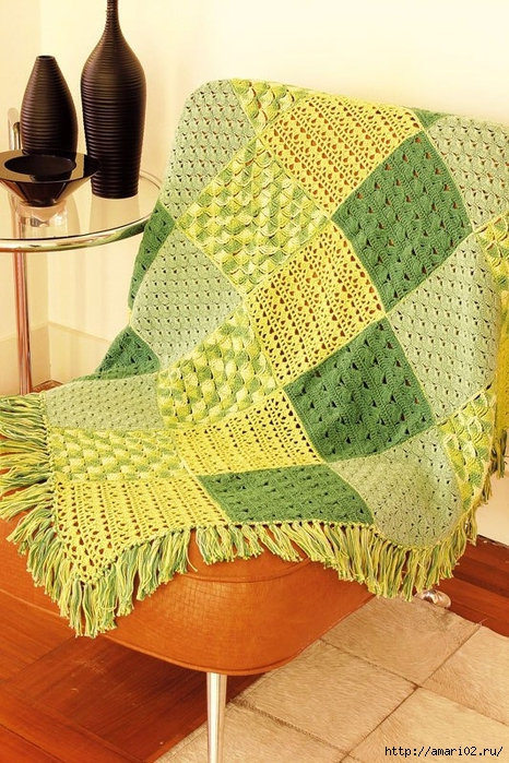 Crochet Squares Sampler Afghan ⋆ Crochet Kingdom