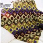 Bobbled Flower Square Afghan Crochet Pattern