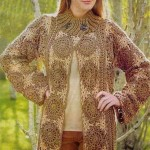 Russian Pattern with Diagram with Circle Motif Crochet Cardigan