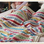 Colorful Stipes and Texture Free Blanket Pattern