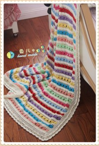 colorful striped afghan blanket pattern 2