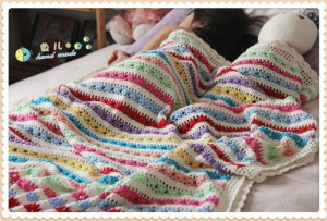 colorful striped afghan blanket pattern