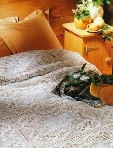 crochet lace bedspread pattern free