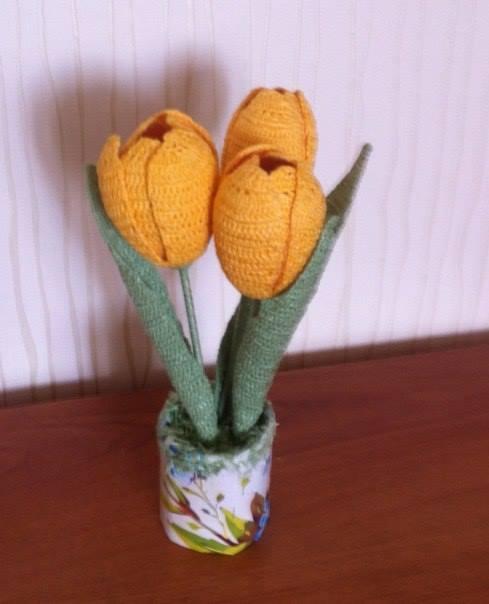 Crochet Tulips Diagram