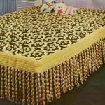 Crochet Bedspread - Flower Motif with Fringing