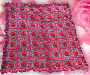 flower square blanket crochet pattern 1