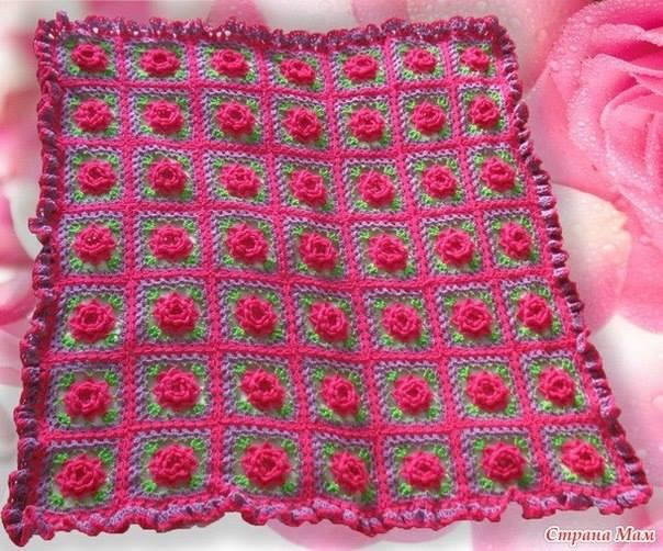 Crochet Flower Patterns Blanket Traitoro For