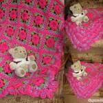 Flower Square Blanket Crochet Pattern