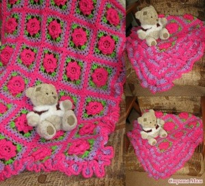 flower square blanket crochet pattern